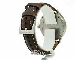 Jack Mason Men's Overland 42 Brown Leather Watch JM-F111-003, New