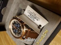 Jack Mason Men's Watch Nautical Chronograph Brown Dial Strap JM-N102-026 $275