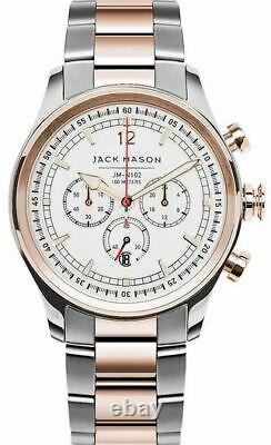 Jack Mason Nautical Chronograph Rose Gold Mens 42mm Watch JM-N102-109