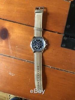 Jack Mason Nautical Quartz Chronograph Oatmeal Strap/black Dial Jm-N102