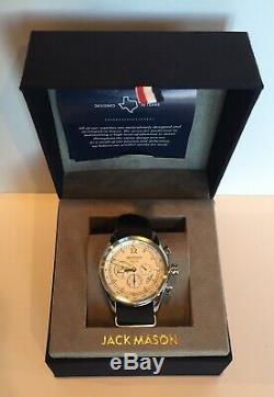 Jack Mason Nautical Watch N112-006 Stainless Steel Black Nylon Strap Tachymeter