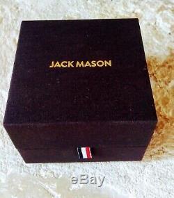 Jack Mason Racing Chrono Watch JM-R402-007 Brown Leather Strap