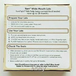 Kerr Canning Mason Jar Wide Mouth Lids 24 Boxes 12 Lids Per Box (288 lids total)