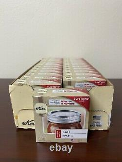 Kerr Regular Mouth Mason Jar Canning Lids Lot 24 Boxes 288 Total Lids