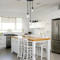 LNC Adjustable Mason Jar Pendant Lights, 3-Light Bronze Chandelier for Kitchen