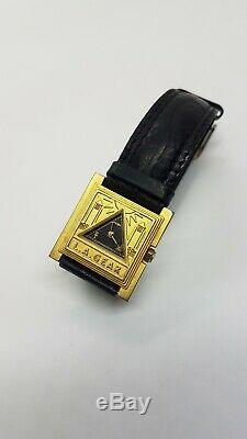 L. A. Gear Freemason Masonic Gold Tone Watch Illuminati Fun Unique Gift Idea Cool
