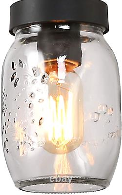 Log Barn Rustic Mason Jar Lights, Farmhouse Chandelier Metal Finish With Glass S