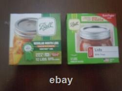 Lot Of 30 Packs New Ball Regular Mouth Mason Jar Canning Lids 12 Each -360 Pc