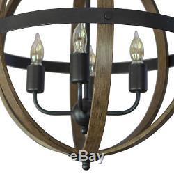 Mason 4-Light Black Pendant