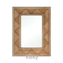 Mason Glade 34 Inch Rectangular Mirror Natural Rattan/Mirror/Mirror