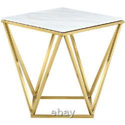 Mason Gold End Table Gold Contemporary
