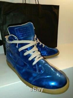 Mason Margiela Mens Sneaker Size 44 Blue Gold $795