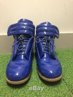 Mason Martin Margiela Men's Future Leather High-Top Sneaker Silver Sz 12/46 No B