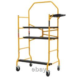 MetalTech Scaffolding Set 5 ft. X 4 ft. X 2-1/2 ft. Folding 900 lb Load Capacity