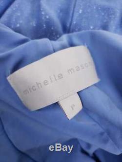 Michelle Mason $737 Crystal Straps Metallic Twist Gown Size Petite