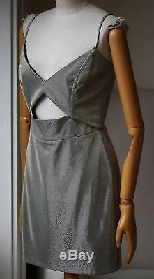 Michelle Mason Metallic Cutout Mini Dress Us 2 Uk 6