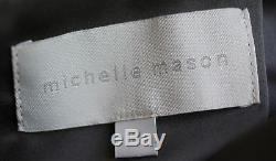 Michelle Mason Metallic Leather Mini Skirt Us 2 Uk 6