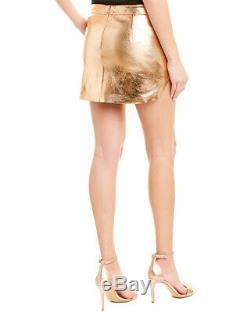 Michelle Mason Metallic Leather Mini Skirt Women's 1411570982