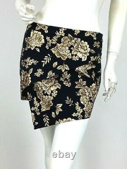 Michelle Mason New 4 US 40 IT S Gold Black 2 Pc Skirt Suit Jacket Coat Runway