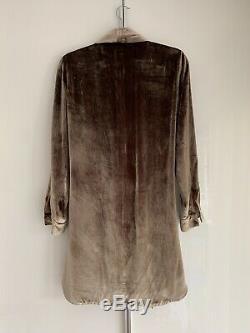 Michelle Mason Velvet Wrap Dress Antique Gold 4