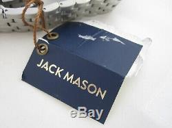 NEW JACK MASON Aviation Silver Stainless Band WATCH Quartz JM-A101-010 Box $225