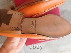 NIB Salvatore Ferragamo Mason Leather Loafers Flats Punch (Burnt Orange) Sz 7.5