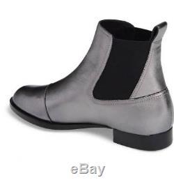 New $450 Rag&Bone Mason Gunmetal Leather Chelsea Boot Women 36/6