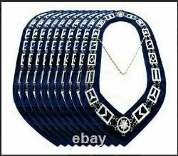 New Silver Masonic Regalia Master Mason Blue Lodge Silver Metal 18 Chain Collar