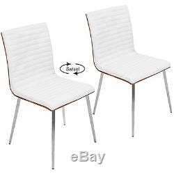 OPEN BOX Mason Contemporary Dining/Accent Chair with Swivel in Stainless Stee