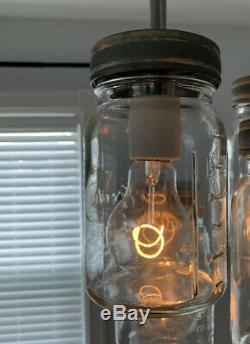 Pottery Barn Exeter 16-Light Glass Mason Jar Rectangular Pendant Chandelier