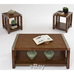 Progressive Mason Hills 3 Piece Coffee Table Set in Ash and Metal