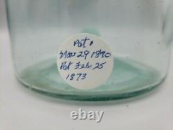 RARE Winslow Mason Fruit Jar 1\2\Small Mouth NOV 29TH 1870 2.25 QTS