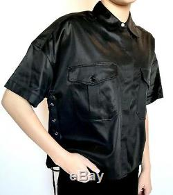 Rag And Bone Black Lace Up Side Mason Shirt. Size XS Retail $325 Price $148 NWT