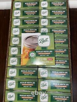 Ships Today BALL Regular Mouth Mason Canning Jar Lids 288 Total Lids In-Hand