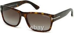 TOM FORD Mason FT0445 52B Dk Havana Grad Smoke Plastic 58 mm Men's Sunglasses
