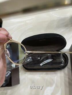 Tom Ford Dashel TF508 Gold Aviator Metal Sunglasses 55-18-145