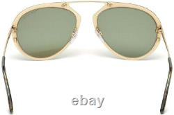 Tom Ford Dashel TF508 Shiny Gold 28N Aviator Metal Sunglasses 55-18-145 FT508