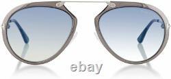 Tom Ford Dashel TF508 Silver 12W Aviator Sunglasses Frame 53-18-145 FT508 SD