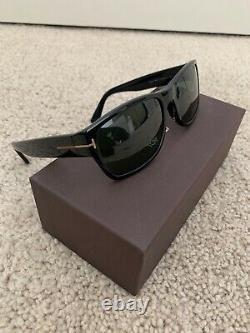 Tom Ford FT0445 Sunglasses Matte Black / Smoke Polarized Lens (Authentic)