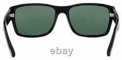 Tom Ford Mason Sunglasses FT 0445/S 01N Shiny Black Green Lens