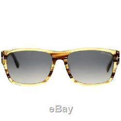 Tom Ford Mason TF445-F 50B Brown Yellow Bold Plastic Sunglasses 58-17-140 FT445F