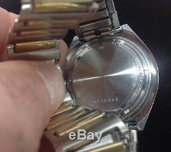 Vintage BULOVA ACCUTRON N7 Masonic Mason Freemason Wristwatch 2192.10 Battery Op