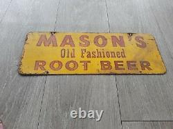 Vintage Mason's Old Fashioned Rootbeer Metal Sign