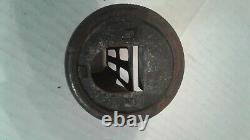 Vintage Old Mouse Trap fruit / mason Glass Jar Metal Lid mouse trap Coghill