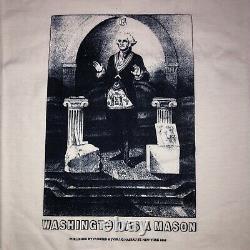 Vtg 90s Free Mason Secret Society T Shirt Sz XL George Washington RARE NWOT