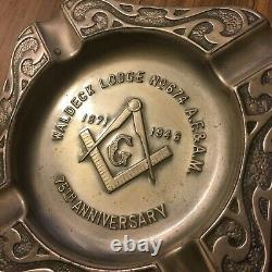 Waldeck Lodge No. 674 75th anniversary ashtray metal Masonic Lodge Freemasons