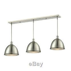 Z-Lite Mason 3 Lt Island/Billiard Light, 55x13x13, Nickel, Nickel 710P13-3BN